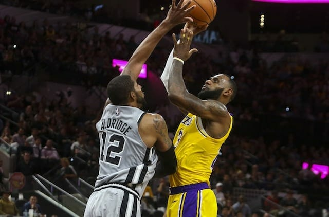LeBron James, Lakers, Spurs