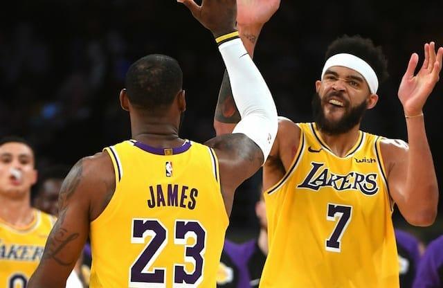 LeBron James, Kyle Kuzma, JaVale McGee, Lakers