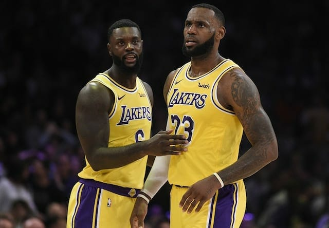 LeBron James, Lance Stephenson, Lakers