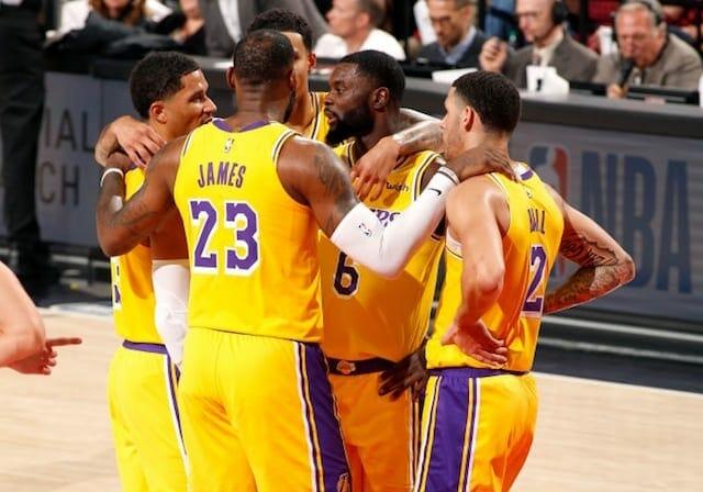 Lonzo Ball, Josh Hart, LeBron James, Lance Stephenson, Lakers