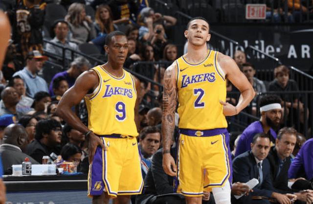 Lonzo Ball, Rajon Rondo, Lakers