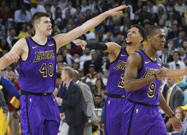 Josh Hart, Rajon Rondo, Ivica Zubac, Lakers