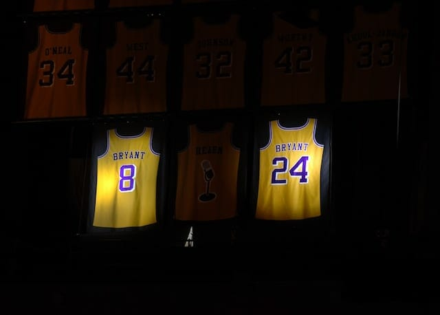 This Day In Lakers History: Nos. 8 And 24 Kobe Bryant Jerseys ...