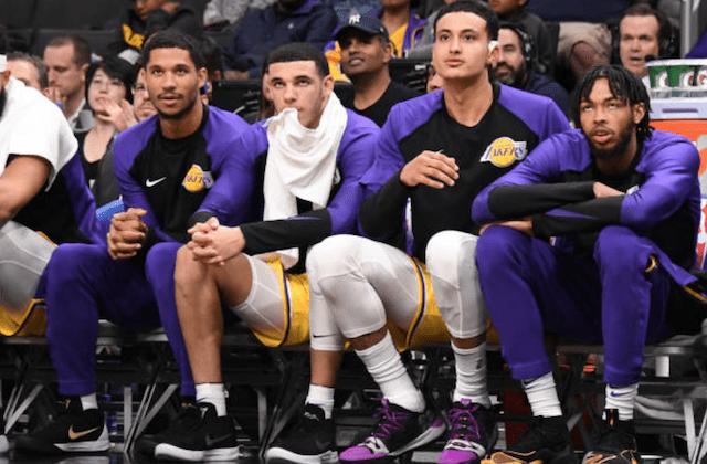 Lonzo Ball, Josh Hart, Brandon Ingram, Kyle Kuzma, Lakers