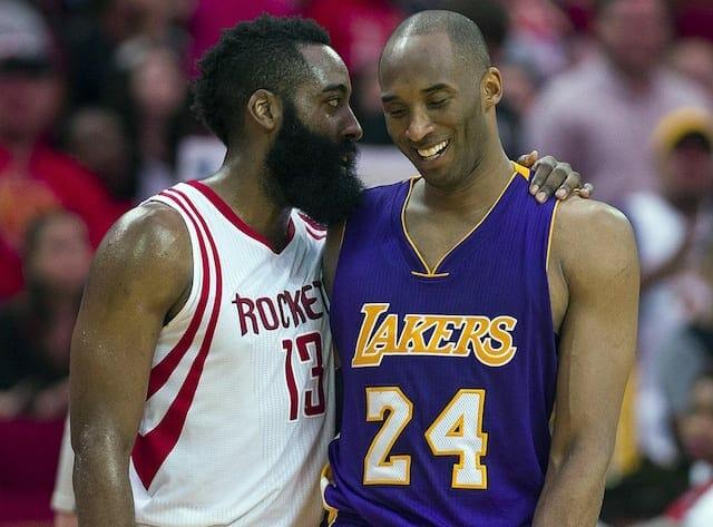 Kobe Bryant, James Harden, Lakers
