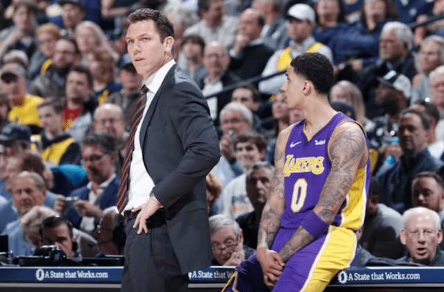 Kyle Kuzma, Luke Walton, Lakers