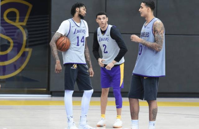 Lonzo Ball, Brandon Ingram, Kyle Kuzma, Lakers