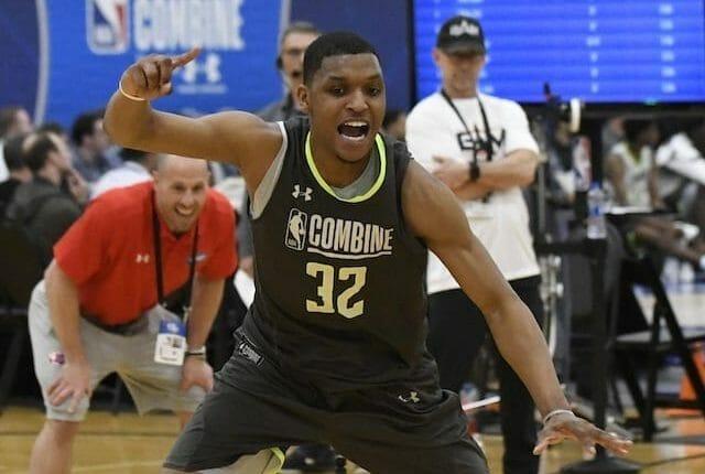 Zach Norvell Jr. participates in the 2019 NBA Draft Combine