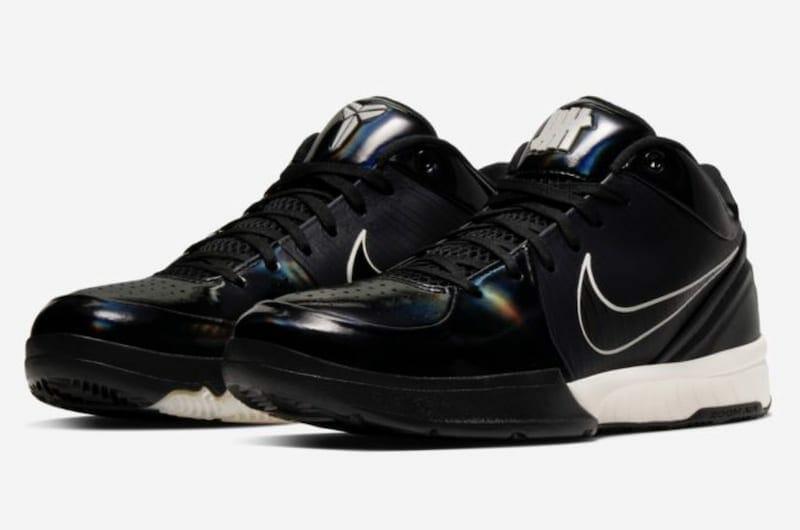 Official image of the Undefeated x Nike Kobe IV Protro 'Black Mamba'