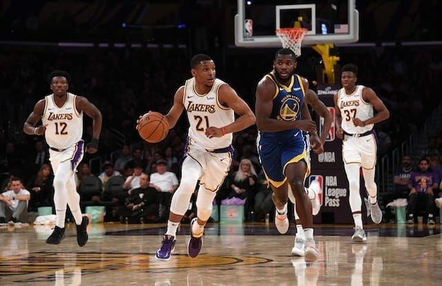 Lakers Vs. Warriors Preview & Tv Info: L.a. Hopes To Complete Four-game Sweep Without Lebron James, Anthony Davis