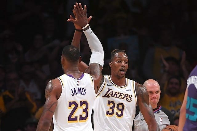 Lakers News: Lebron James Pleased With Dwight Howard's Play