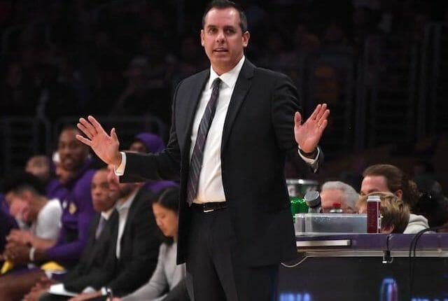 Los Angeles Lakers head coach Frank Vogel, LeBron James