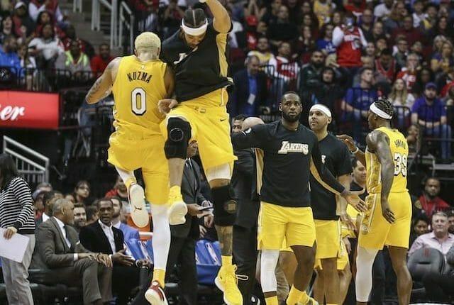 LeBron James, Kyle Kuzma, JaVale McGee, Los Angeles Lakers
