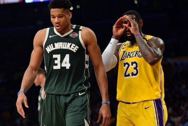Giannis Antetokounmpo, LeBron James, Lakers