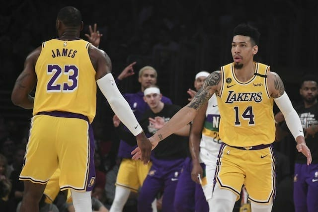 LeBron James, Danny Green, Lakers