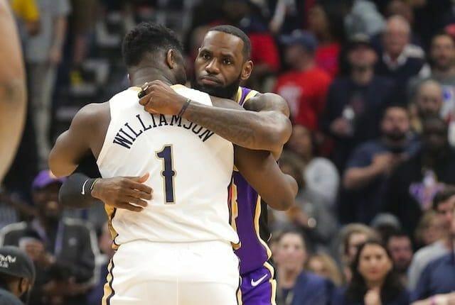 LeBron James, Zion Williamson, Lakers