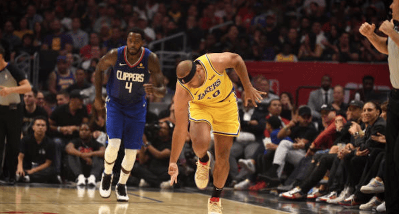 Los Angeles Lakers reserve forward Jared Dudley