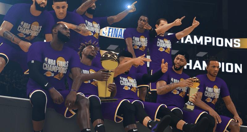 Lakers, NBA 2K20 simulation