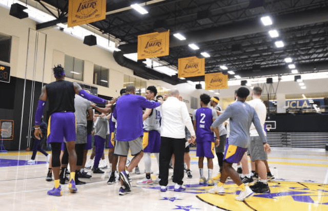 Quinn Cook, Danny Green, Dwight Howard, Lakers practice