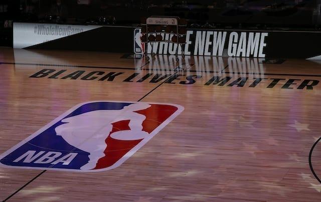 NBA court, Black Lives Matter, NBA restart