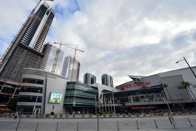 Staples Center exterior view