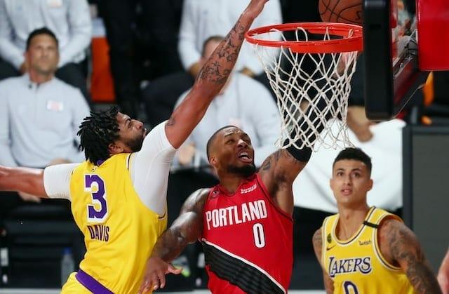 Anthony Davis, Kyle Kuzma, Damian Lillard, Lakers