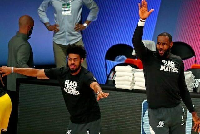 Quinn Cook, LeBron James