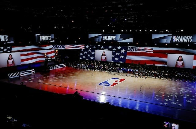 The Arena court view, 2020 NBA Playoffs