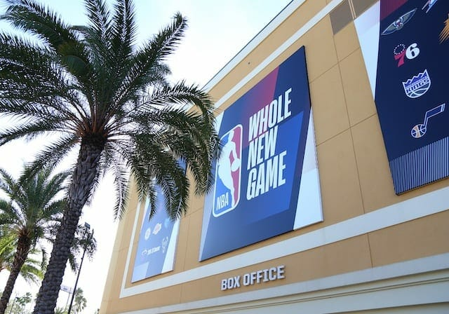 Whole New Game sign, 2020 NBA Playoffs