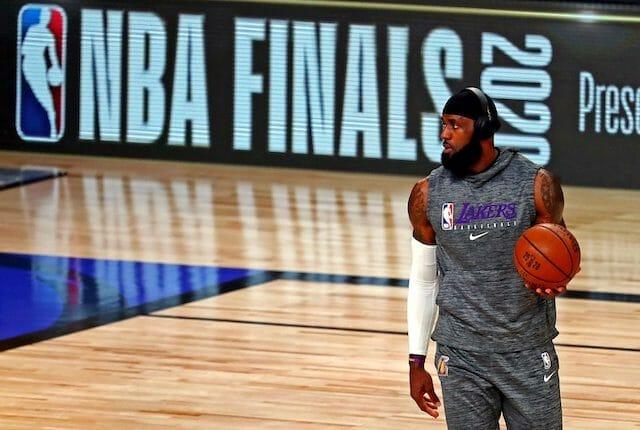 LeBron James, NBA Finals sign