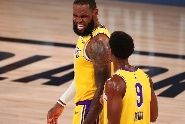 LeBron James, Rajon Rondo, Lakers