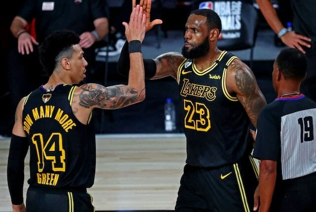 Danny Green, LeBron James, Lakers