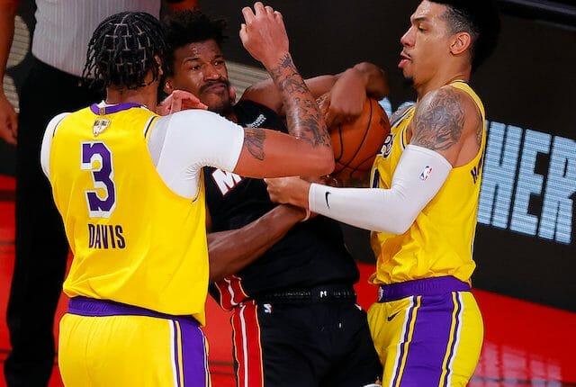 Jimmy Butler, Anthony Davis, Danny Green, Lakers, Heat