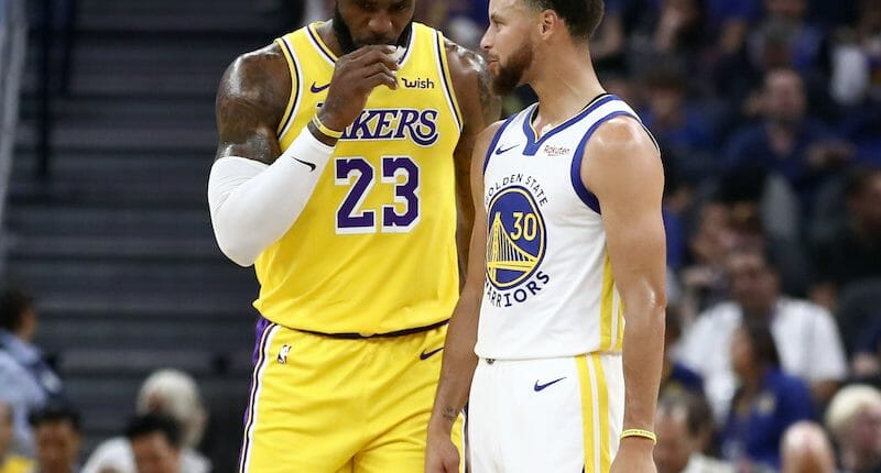 Stephen Curry, LeBron James, Lakers