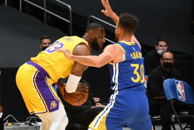 Stephen Curry, LeBron James, Lakers, Warriors