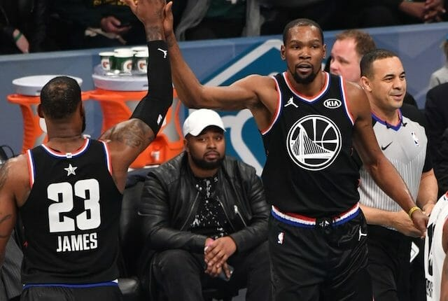 Kevin Durant, LeBron James, 2019 All-Star Game, Lakers