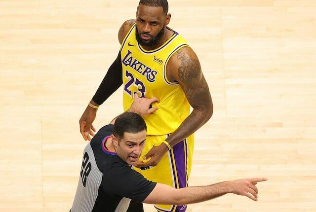 LeBron James, referee