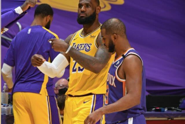 Lebron James Chris Paul Lakers