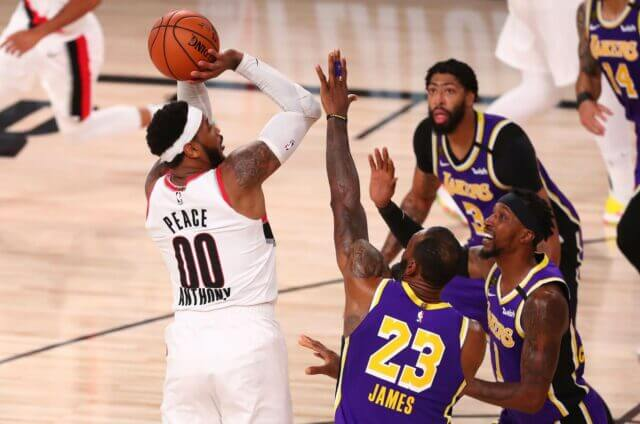 Carmelo Anthony, Lakers, Blazers