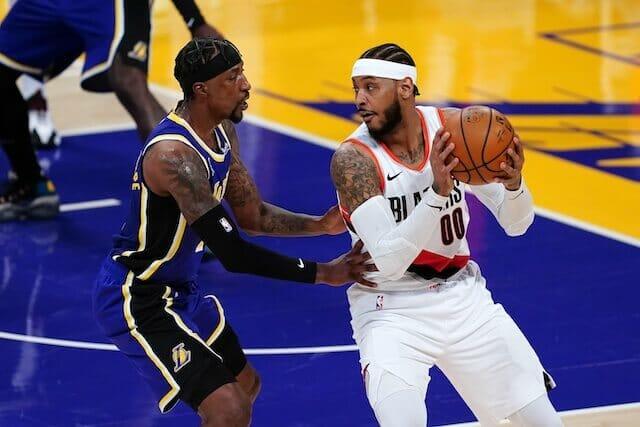 Carmelo Anthony, Kentavious Caldwell-Pope, Lakers, Blazers