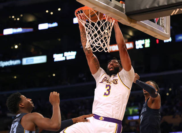 Anthony Davis Relieved Lakers Got 'Monkey' Off Their Back With Win Against Grizzlies