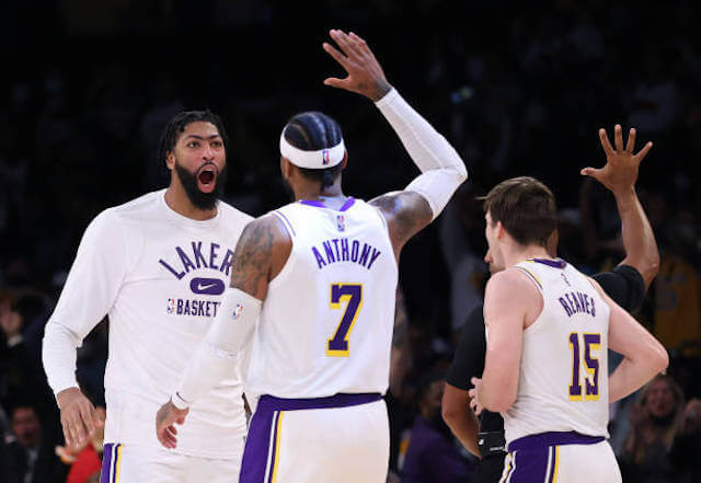 Lakers Highlights: Carmelo Anthony, Anthony Davis Lead Lakers To Close Victory Over Grizzlies