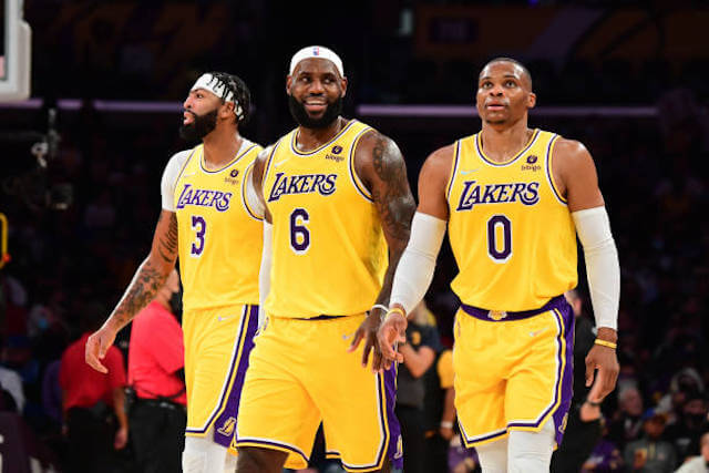 Anthony Davis LeBron James Russell Westbrook Lakers