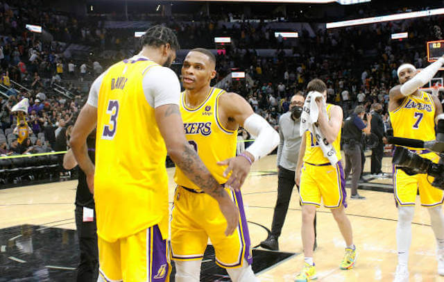 Lakers Highlights: Anthony Davis, Russell Westbrook Step Up In LeBron James' Absence In Overtime Win Over Spurs