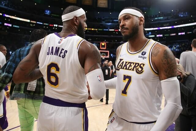 Lakers News: LeBron James Praises Carmelo Anthony After Historic Night