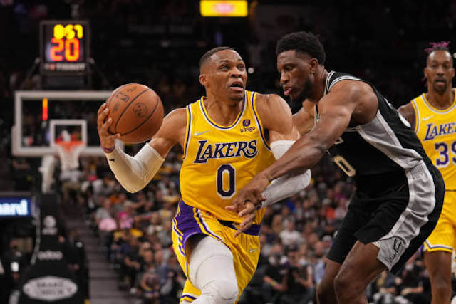 Recap: Anthony Davis & Russell Westbrook Power Lakers To Overtime Win Against Spurs